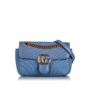 Gucci Mini GG Marmont Leather Crossbody Bag