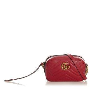 Gucci Torba na ramię czerwony Skóra