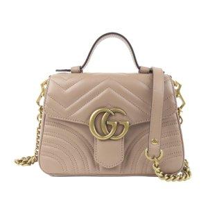 Gucci Mini GG Marmont Leather Satchel