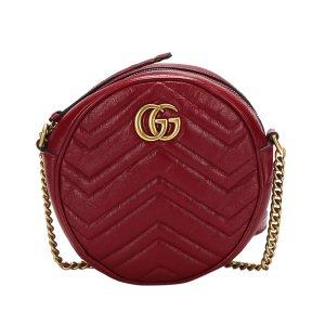 Gucci Mini GG Marmont Round Leather Crossbody Bag