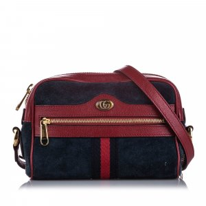 Gucci Mini Ophidia Suede Crossbody Bag