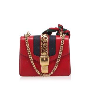 Gucci Mini Sylvie Leather Chain Shoulder Bag