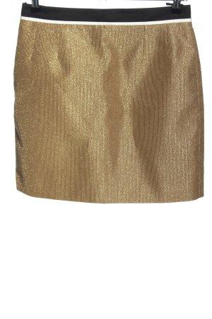 Gucci Spódnica mini złoto-czarny Elegancki