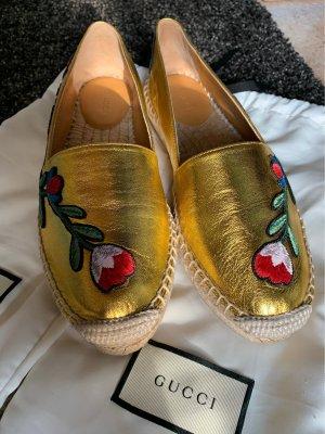 Gucci Moccasins gold-colored
