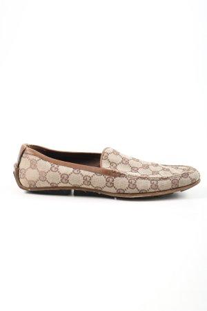 Gucci Mokasyny brązowy-kremowy Wydrukowane logo W stylu casual
