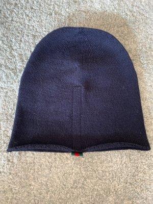 Gucci Chapeau en tricot bleu foncé