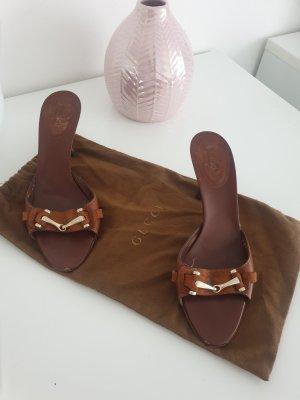Gucci Sandales à talon haut brun