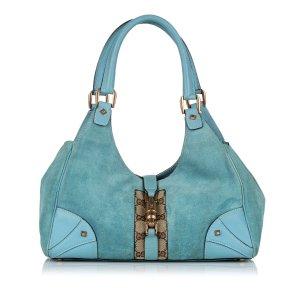 Gucci Nailhead New Jackie Suede Shoulder Bag
