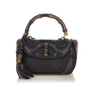 Gucci New Bamboo Leather Handbag