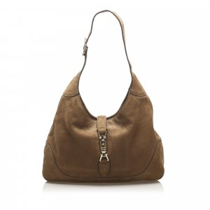 Gucci Shoulder Bag dark brown leather