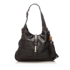 Gucci New Jackie Tassel Leather Satchel
