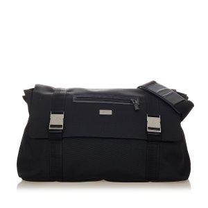 Gucci Gekruiste tas zwart Nylon