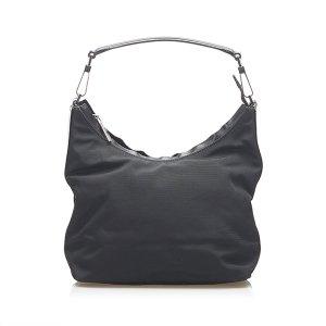 Gucci Sac porté épaule noir nylon