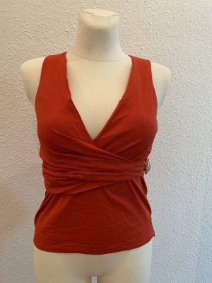 Gucci Blusa de manga corta rojo ladrillo