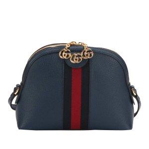 Gucci Gekruiste tas blauw Leer