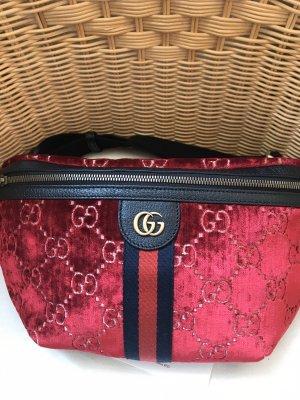 Gucci Original Belt Bag-Velvet-Red