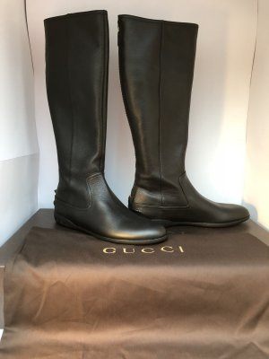 Gucci Original Neu Lederstiefel schwarz Große-37