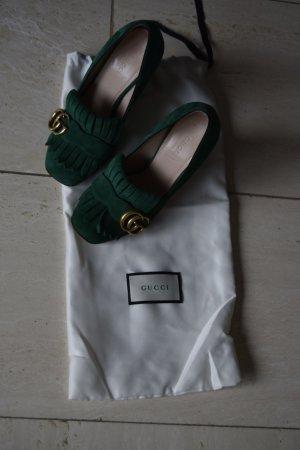 GUCCI original Pumps Marmont, grün, dreimal getragen, Gr. 36
