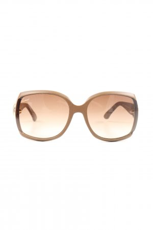 Gucci Lunettes de soleil ovales brun style classique