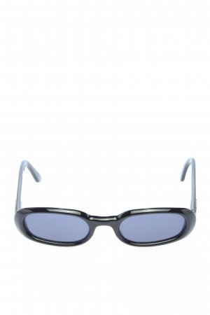 Gucci ovale Sonnenbrille schwarz Casual-Look