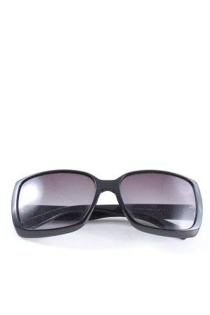 Gucci Occhiale da sole ovale nero stile casual