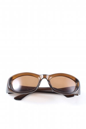 Gucci ovale Sonnenbrille braun Casual-Look