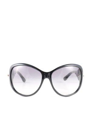 Gucci Lunettes de soleil ovales noir style décontracté