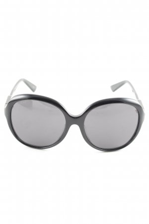Gucci ovale Sonnenbrille schwarz Business-Look