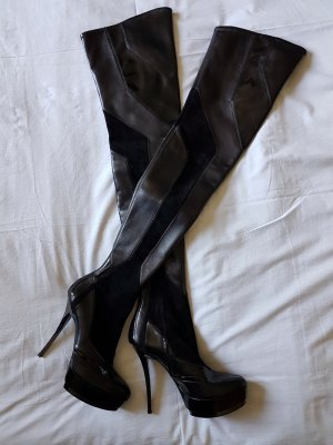 Gucci Overknees black leather