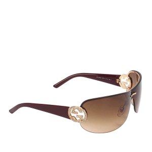 Gucci Oversized Shield Sunglasses