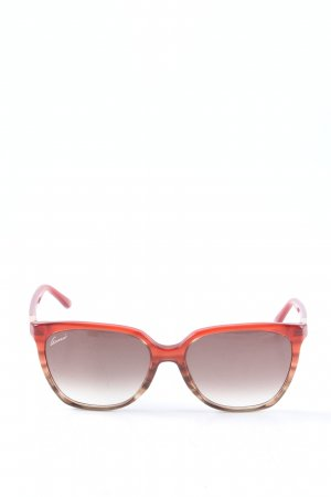 Gucci Panto Brille rot Casual-Look