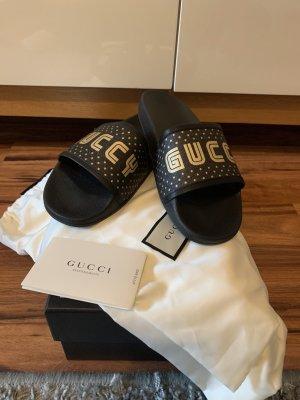Gucci Klompen zwart-goud