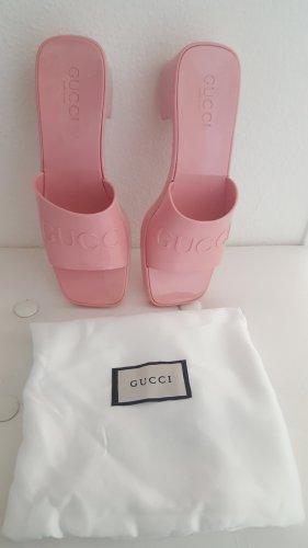 Gucci Klapki na obcasie różany-jasny różowy