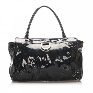 Gucci Patent Leather Abbey D-Ring Handbag