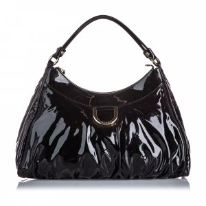 Gucci Patent Leather Abbey D-Ring Shoulder Bag