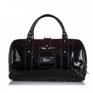 Gucci Patent Leather Boston Bag