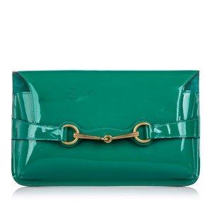 Gucci Patent Leather Bright Bit Clutch Bag
