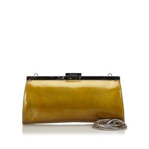 Gucci Patent Leather Clutch Bag