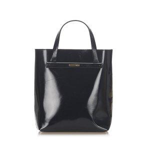 Gucci Bolso de compra negro Imitación de cuero