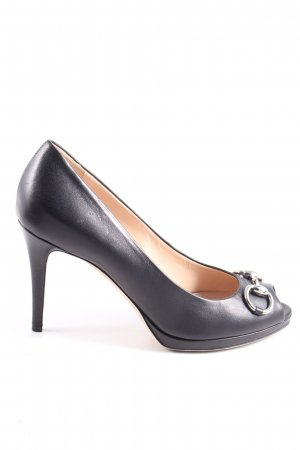 Gucci Peeptoe Pumps schwarz Business-Look