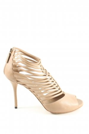 Gucci Peeptoe Pumps nude Casual-Look