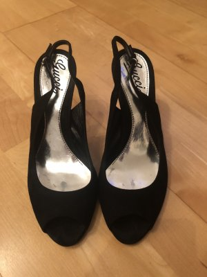 Gucci Peep Toe Pumps black