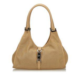 Gucci Shoulder Bag beige leather