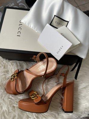 Gucci Platform High-Heeled Sandal multicolored