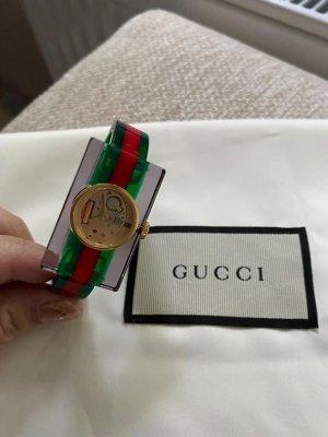 Gucci Fermoir de montre vert forêt-rouge foncé