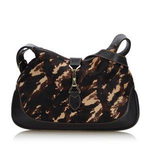Gucci Pony Hair Jackie Shoulder Bag