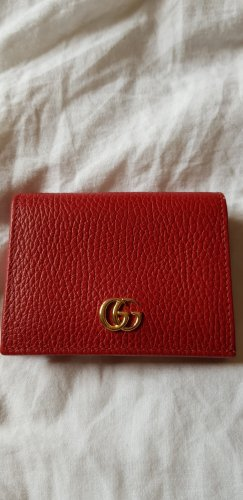 Gucci Card Case brick red leather