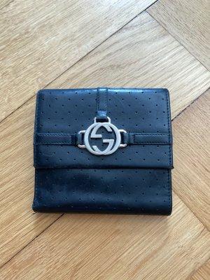 Gucci Portemonnaie schwarz Silber