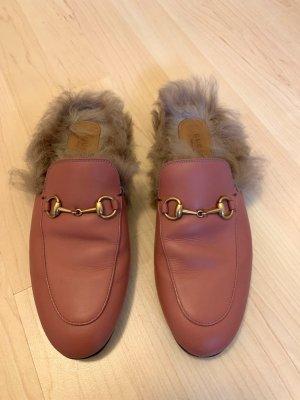 Gucci Mocassins rose-marron clair
