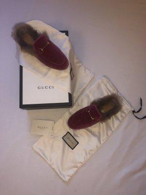 Gucci Sabot viola-rosa Tessuto misto